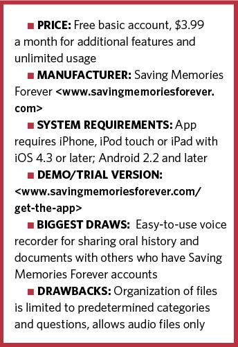 Saving Memories Forever information