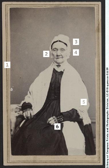 Civil War-era portrait of a senior woman.