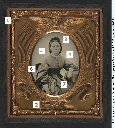 Civil War-era portrait of a young women.