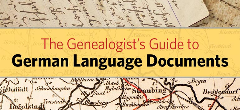German ancestors translating records