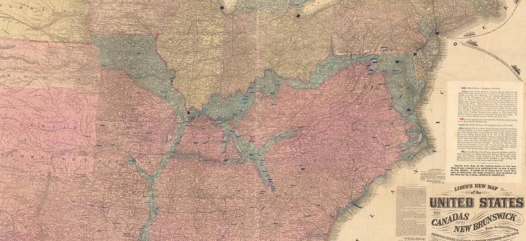 civil war maps, maps of the south, maps of the civil war, Image courtesy the David Rumsey Map Collection