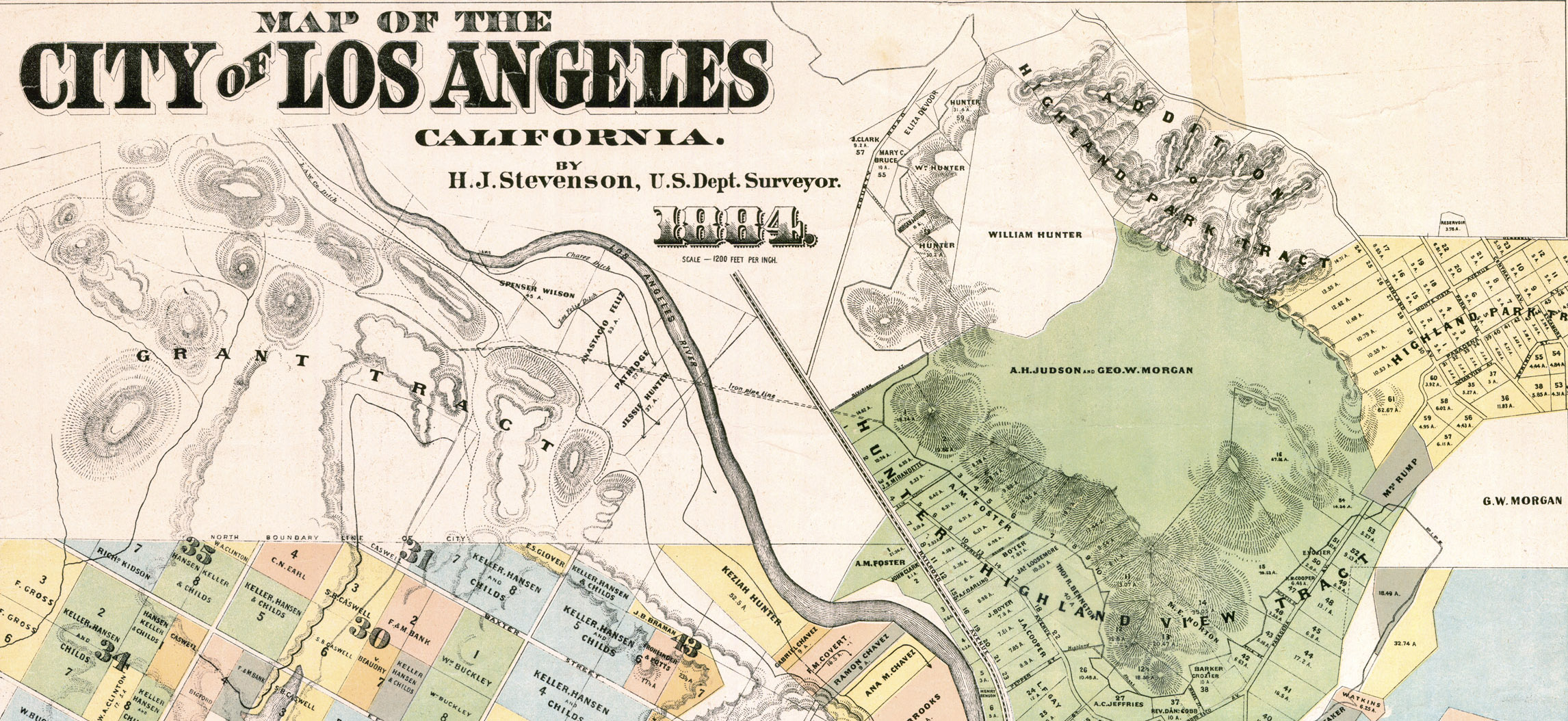 historical map los angeles, old map los angeles