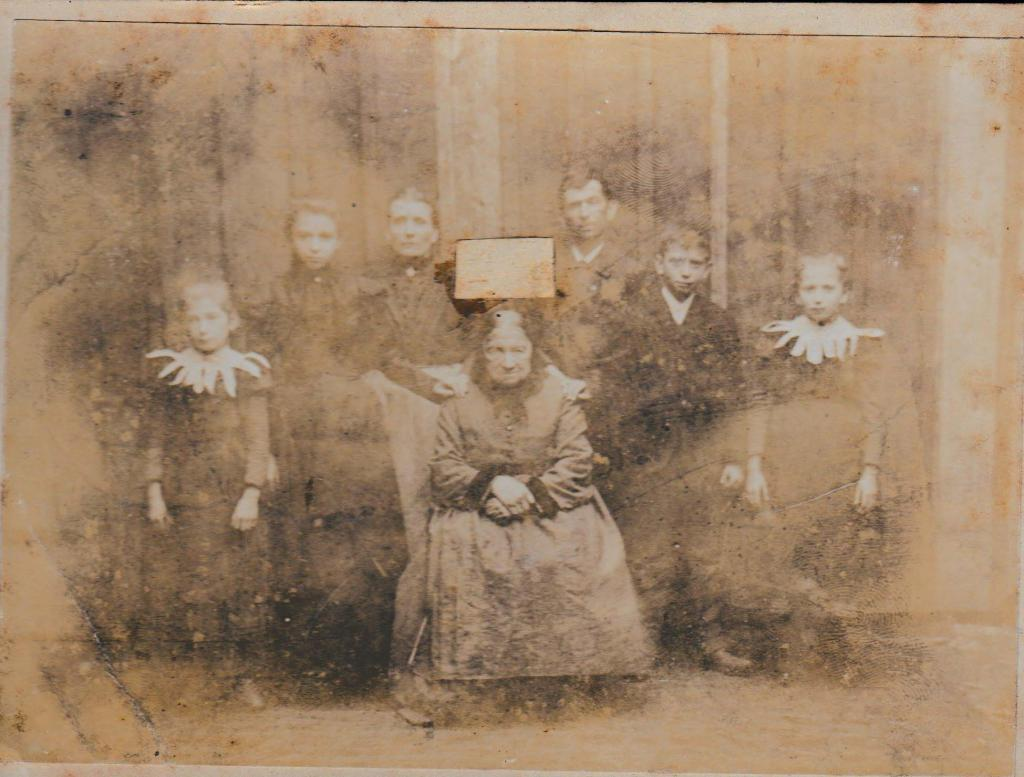 Old Photo With Face Cut Out