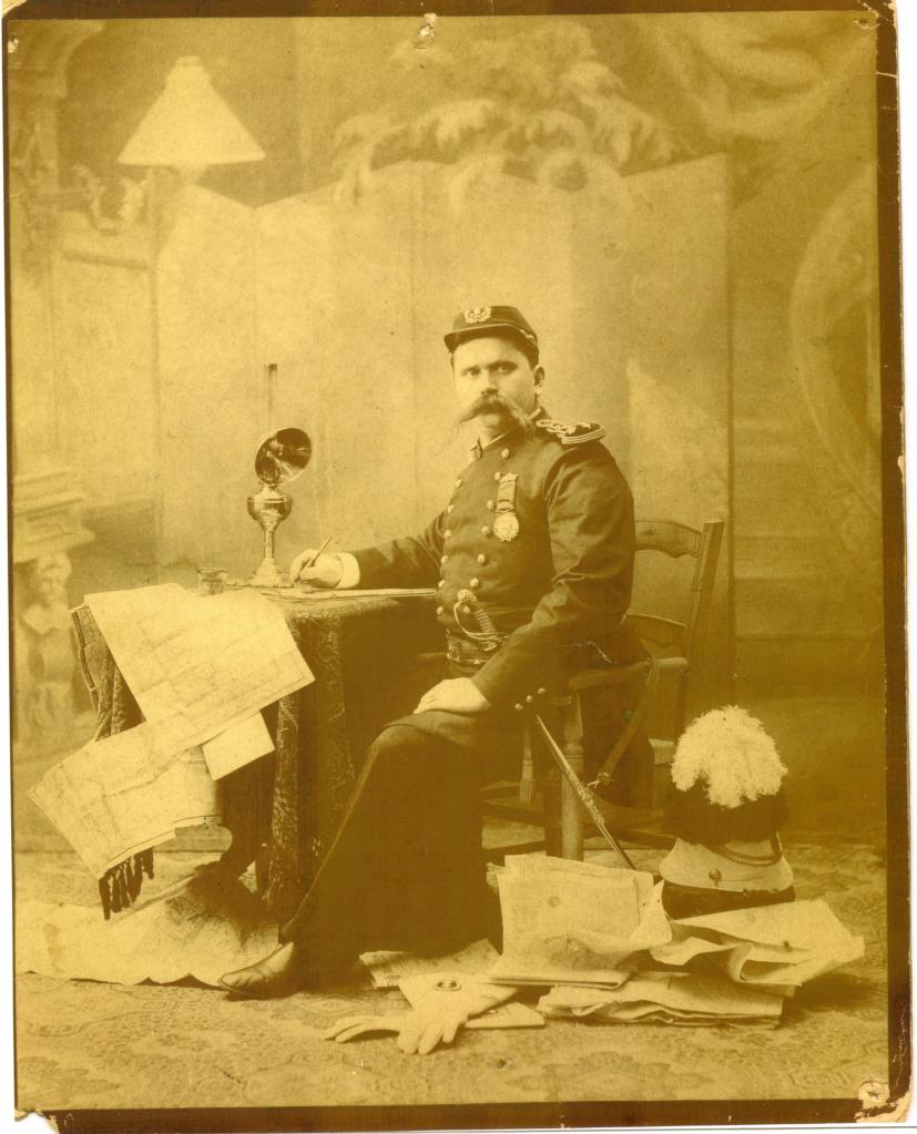 old mystery photo of man in military uniform