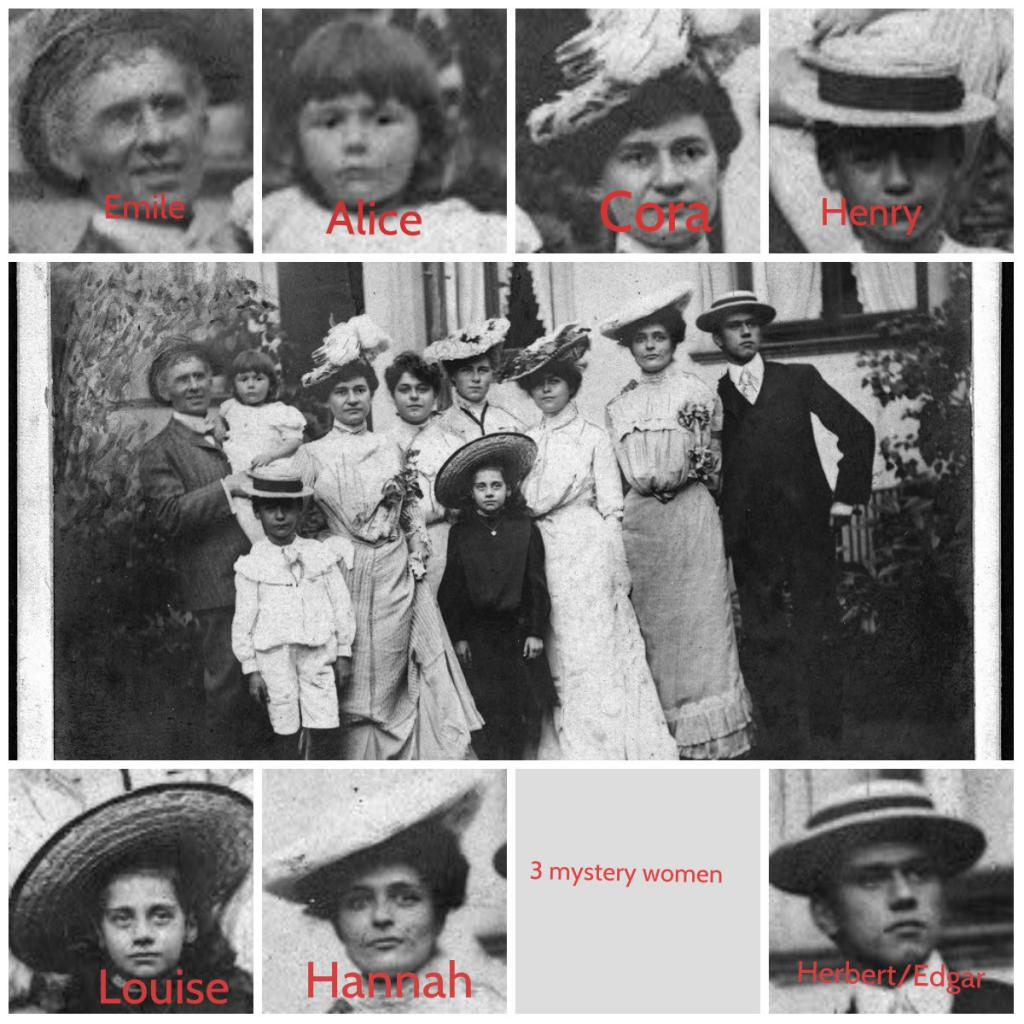 identifying faces in an old group photograph