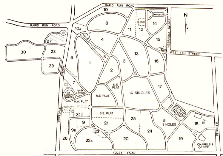 historical research maps, old map monday, cemetery map, plot record, cemetery records, cemetery research, cemetery plot map