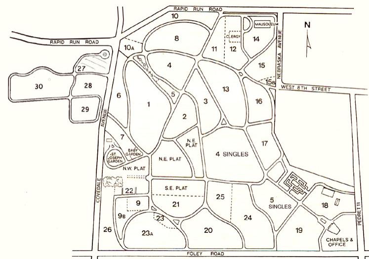 Cemetery plot map.