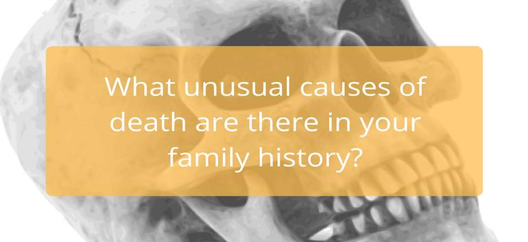 Halloween Genealogy Causes Death Spooky Strange
