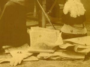 props in old family photos