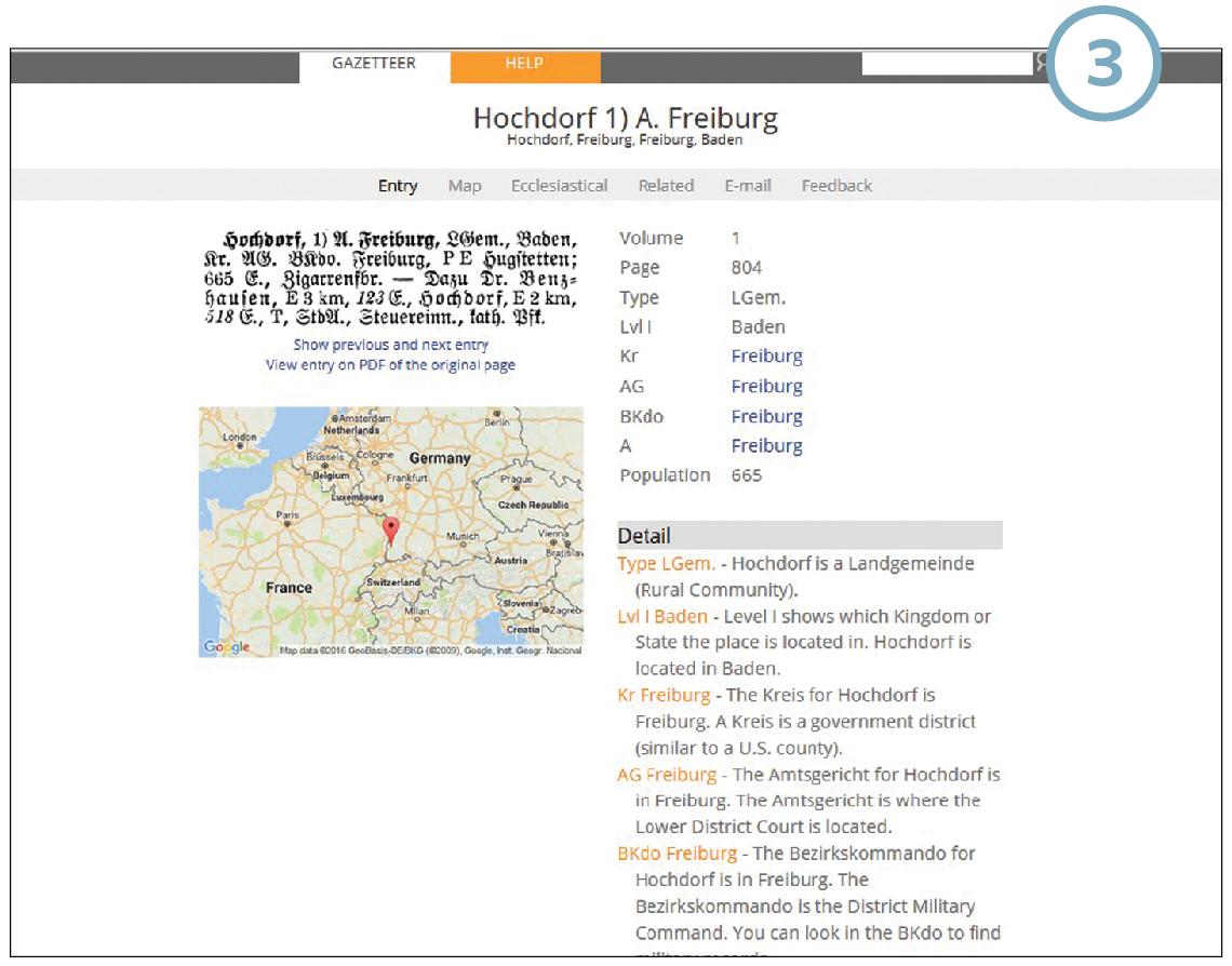 meyers gazetteer, find german places, german placenames, how to use meyers gazetteer