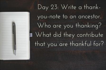 ancestor thank-you notes