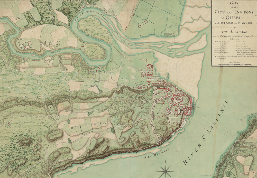 Learn about the role Canada played in the Revolutionary War with this historical map of Quebec.