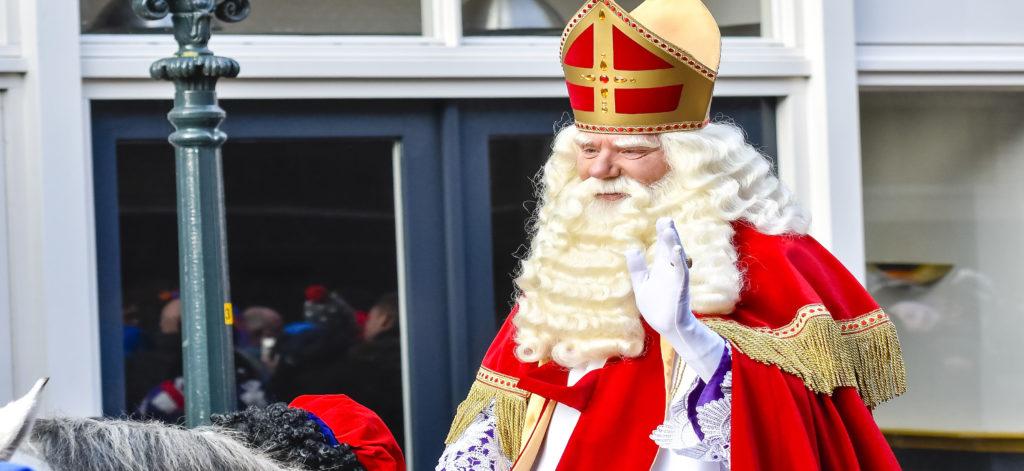 Sinterklass or Saint Nicholas in a parade.