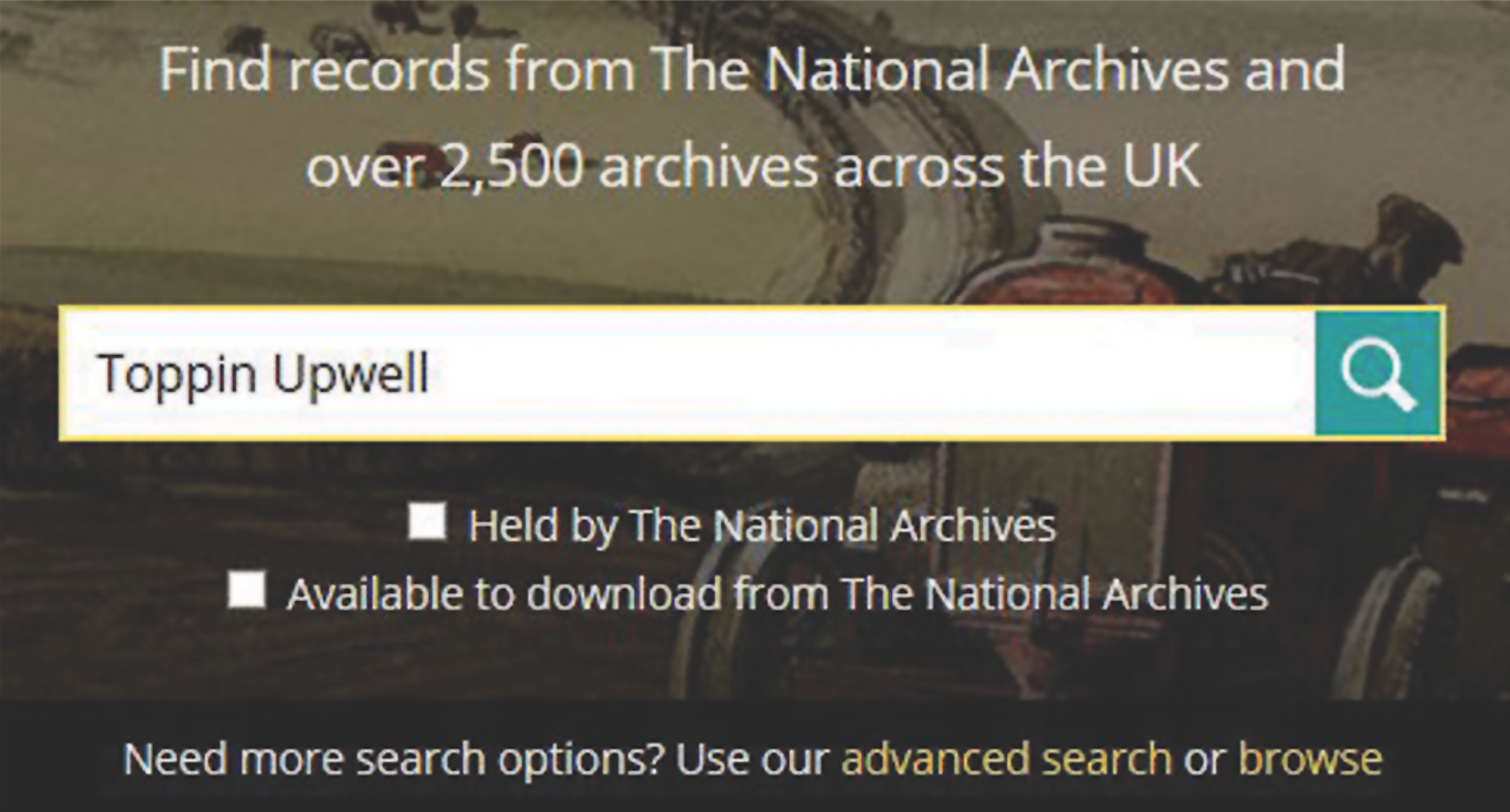 Discovery Catalog UK National Archives United Kingdom Records