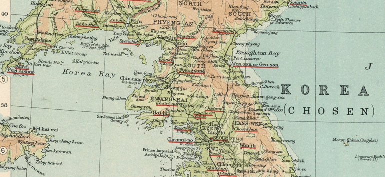 Discover Korean history with this map from 1923.