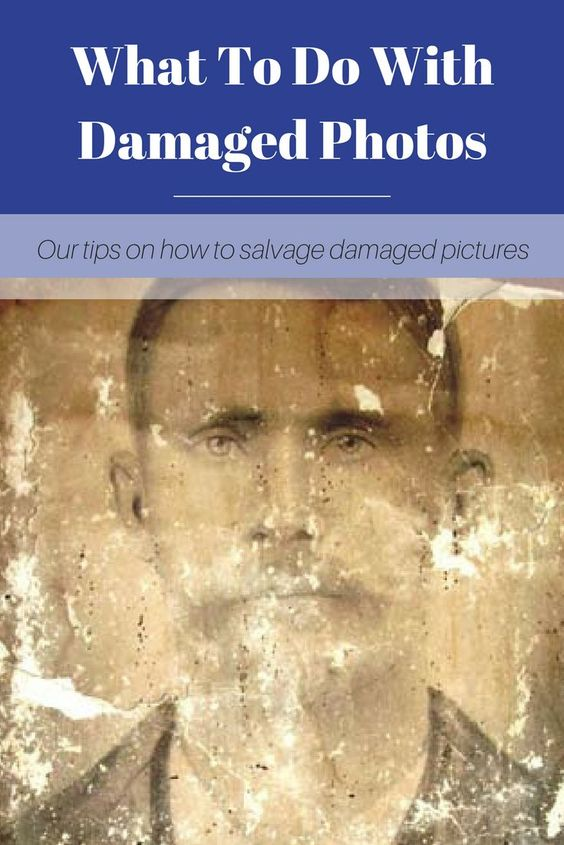 What To Do With Damaged Family Photos Pinterest image.
