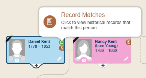 MyHeritage hints example