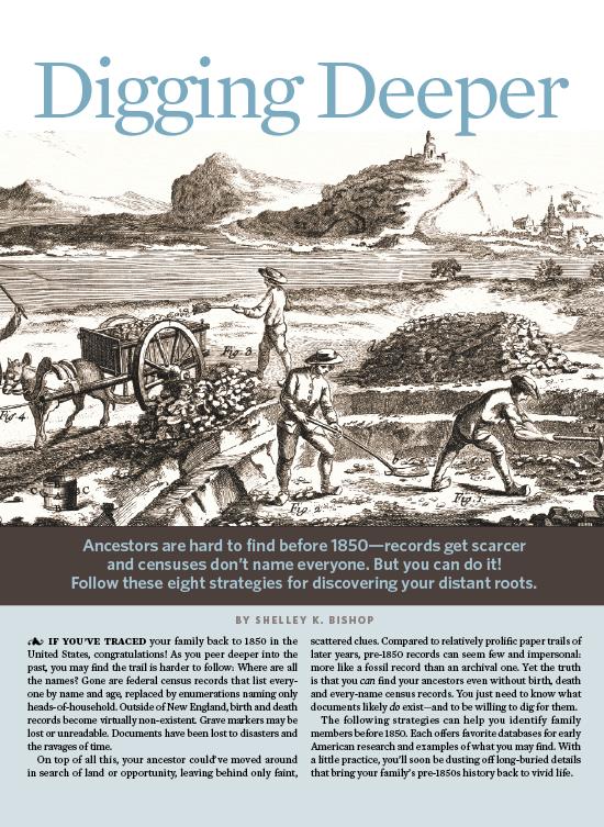 digging deeper: find ancestors prior to 1850