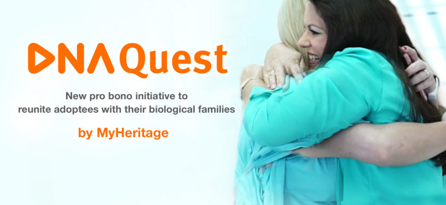 The MyHeritage DNA Quest project will give 15,000 adoptees free DNA kits.