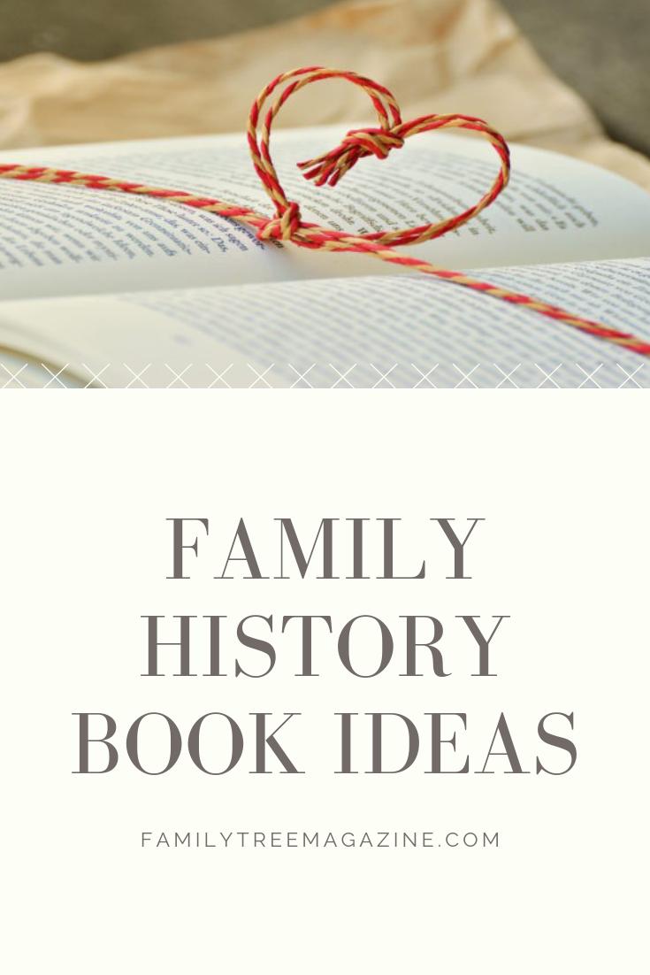 Family history book Pinterest image.