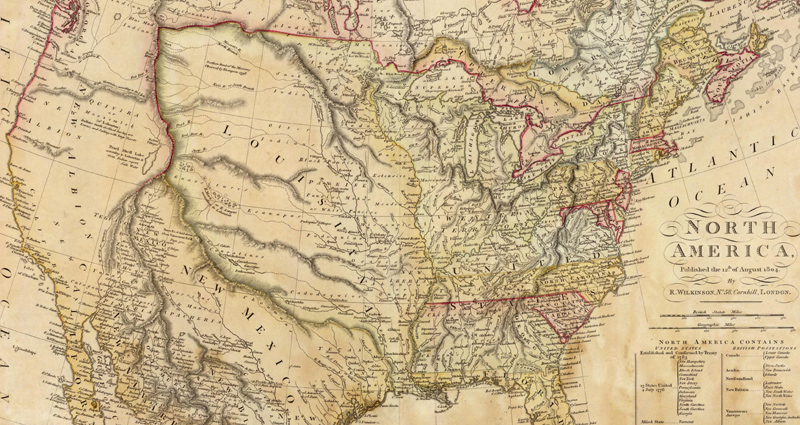 This Louisiana Purchase map shows how the US' size doubled in 1803.