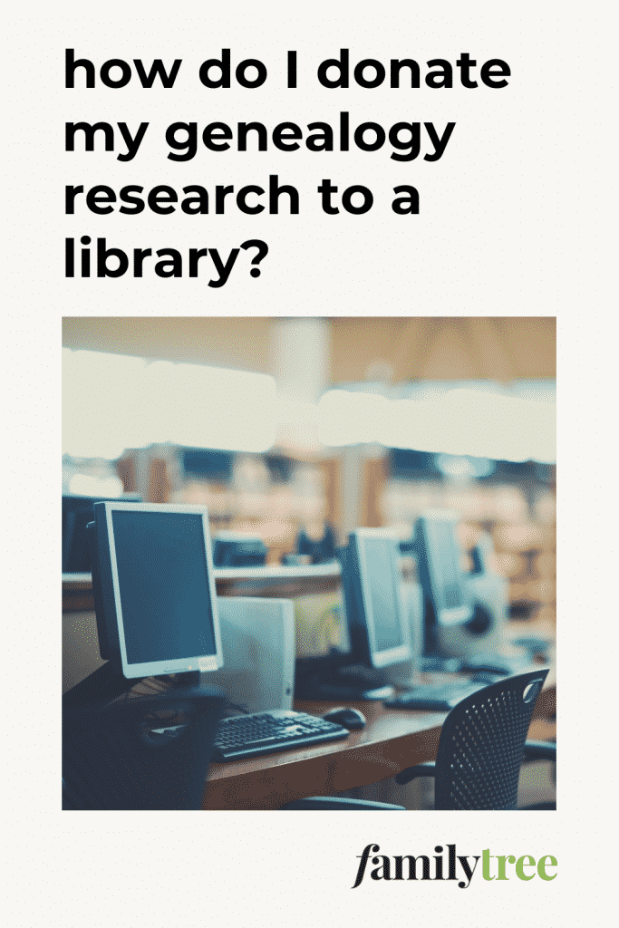 How to Donate Genealogy Research