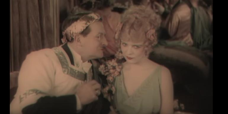 Old technicolor film strip
