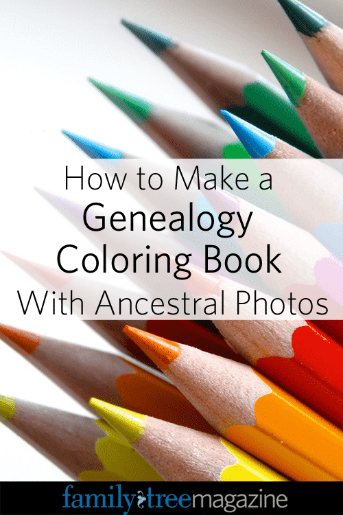 How to Make a Genealogy Coloring Book