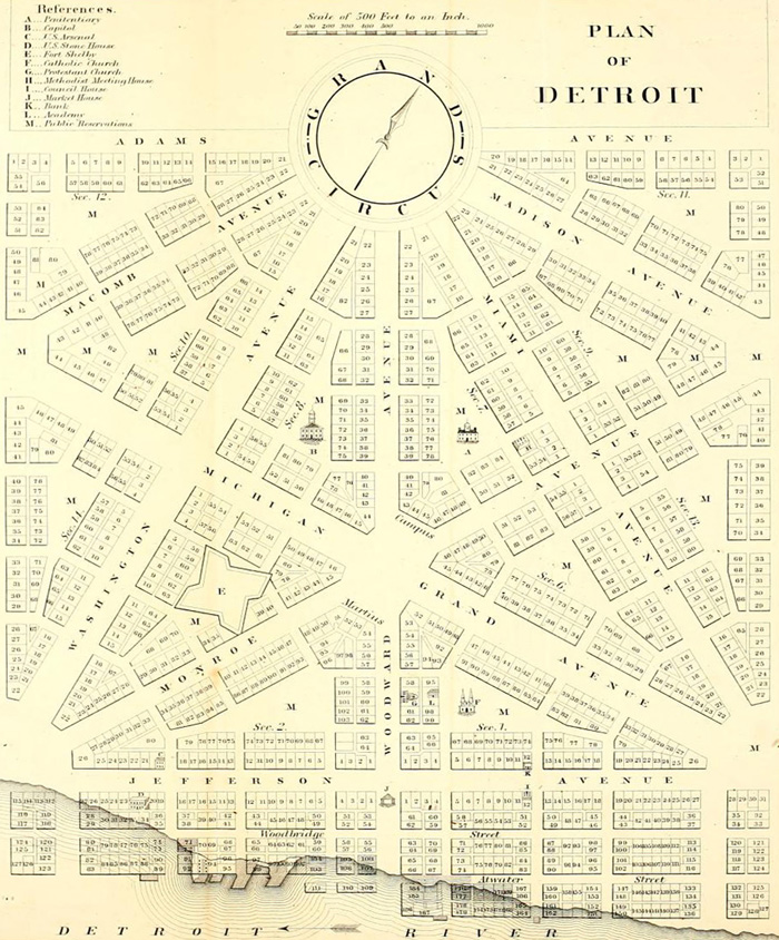 Learn about Motor City's comeback with this historical map of Detroit.