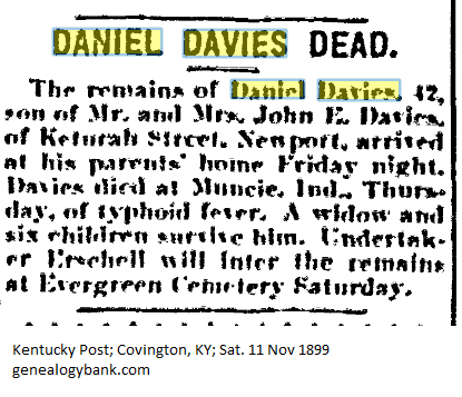 Daniel Davies Obituary, Kentucky Post