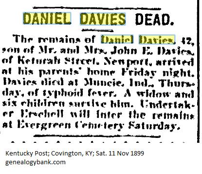 Daniel Davies Obituary, Kentucky Post