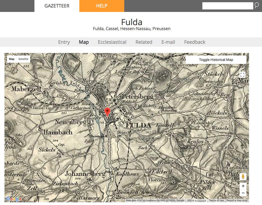 Meyers Gazetteer gave me great information about Fulda, my ancestor's German hometown.