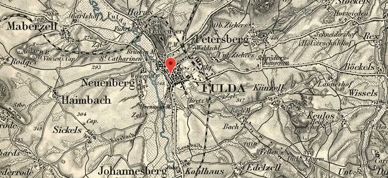Meyers Gazetteer gave me great information about Fulda, my ancestor's German hometown.