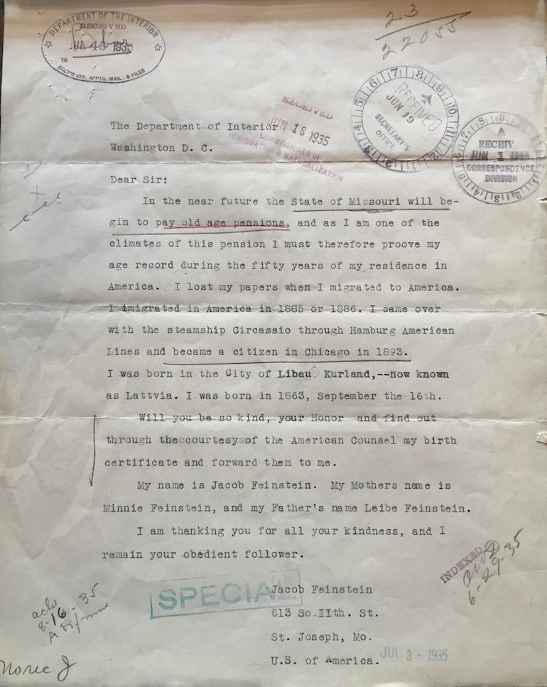 Naturalization Correspondence Files unusual records genealogy