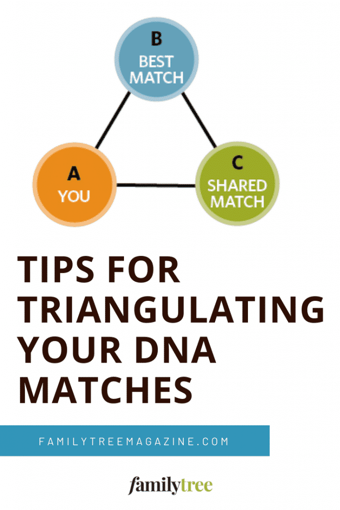 Tips for triangulating DNA matches.