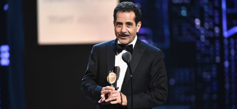 In his Tonys acceptance speech, Tony Shalhoub discussed his father's immigration story.