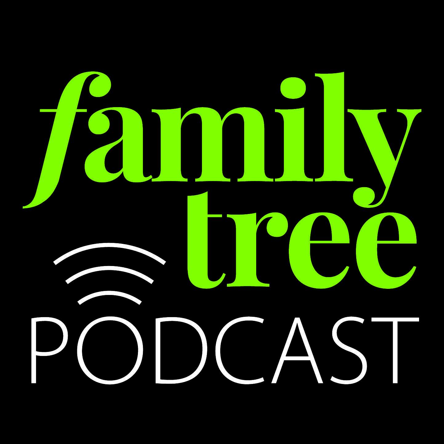 Logo of the Family Tree Genealogy Podcast from Family Tree Magazine.