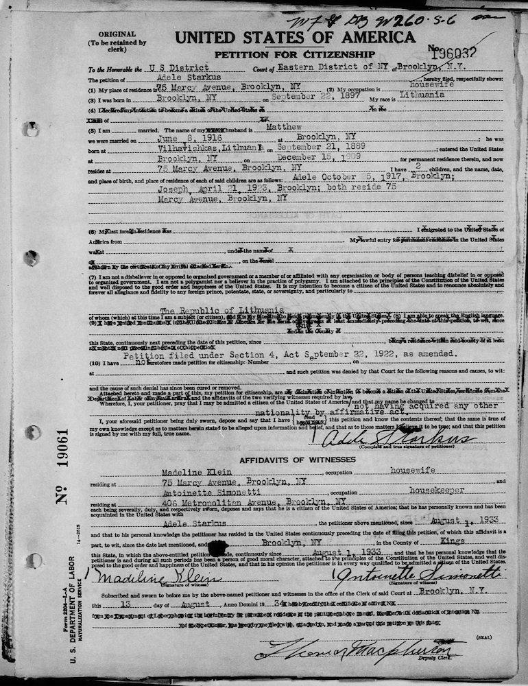Petitions Naturalization Repatriation Records