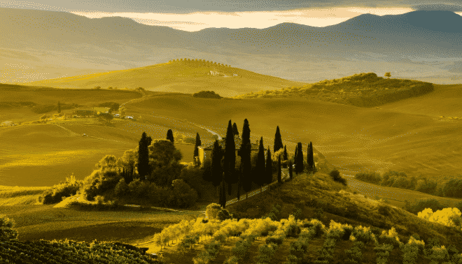 Countryside in Tuscany, Italy.