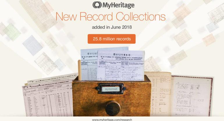 MyHeritage new records