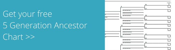 5 Generation Ancestor Chart download banner.