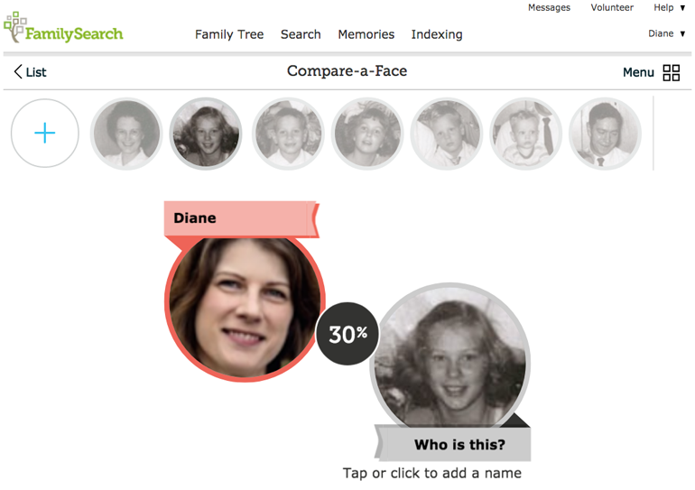 FamilySearch Compare-a-Face Determines Which Relatives You Look Like