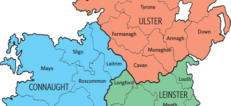 This Irish counties map will help you determine which county of Ireland your ancestor was from.