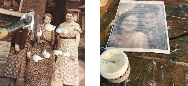transfer old photos to canvas