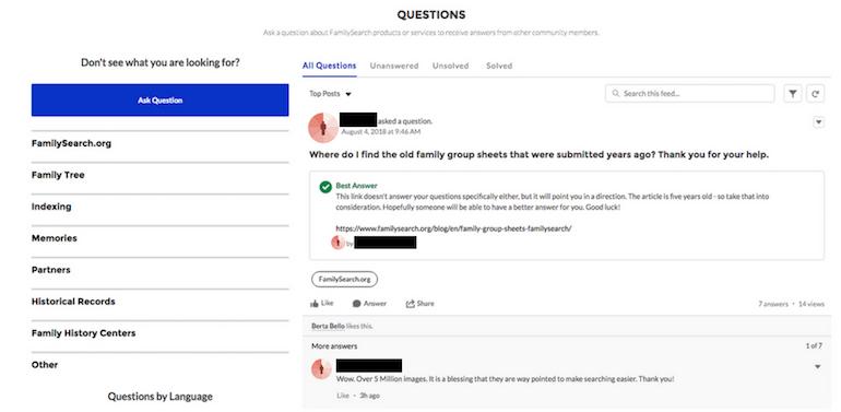 familysearch community