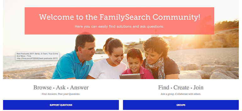 familysearch community