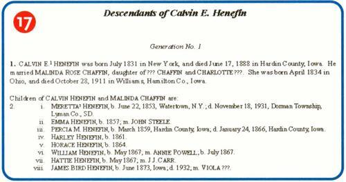 An example of a Genealogy Register Report from Family Tree Maker.