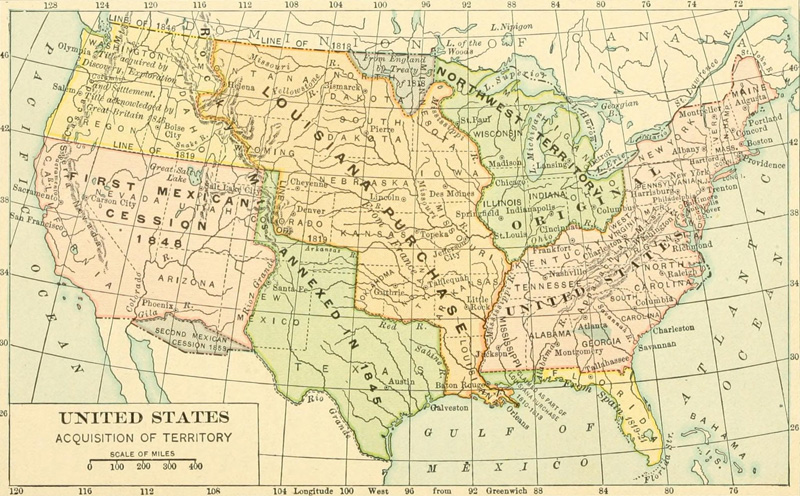 This US expansion map shows how the country has grown since gaining independence.
