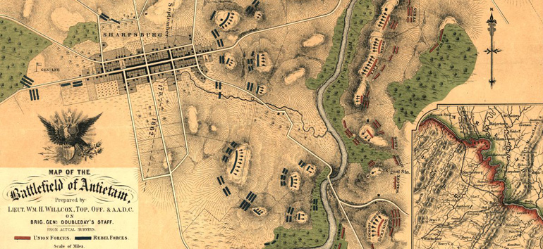 This Battle of Antietam map shows how the bloodiest day in US history unfolded.