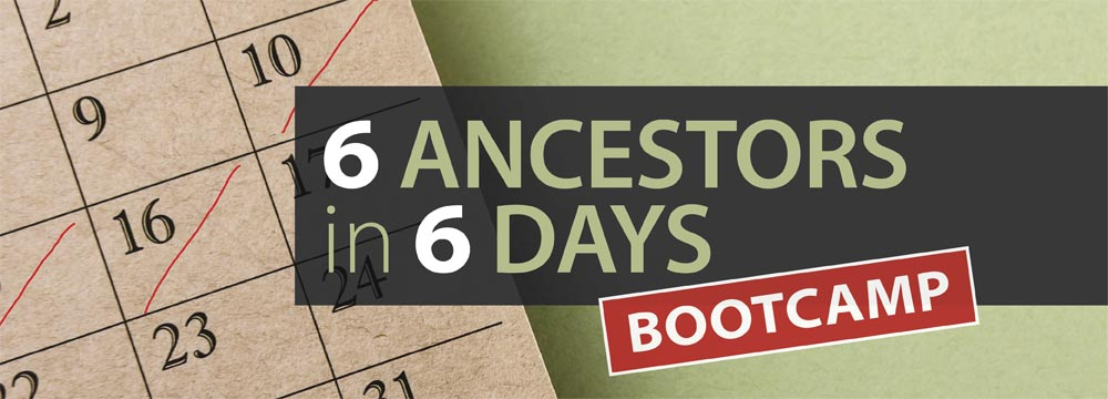 Find evidence of 6 Ancestors in a week with this workshop